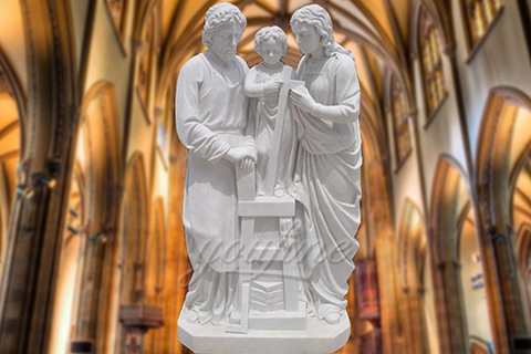 Garden Life Size Religious Holy Family Marble StatuesGarden Life Size Religious Holy Family Marble Statues