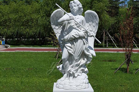 Large outdoor marble Sant'Angelo sculptures for decor