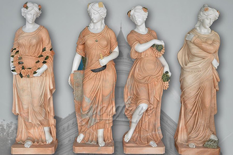 Hand carved classic four season marble statues