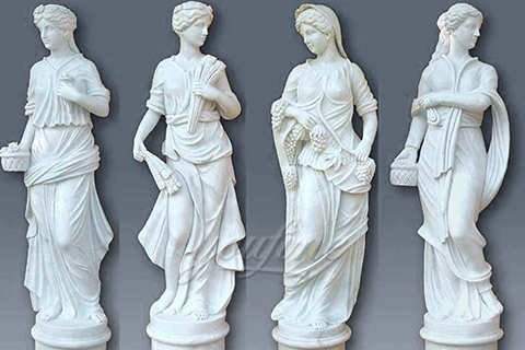 Hot sales decoration western marble statues of four season