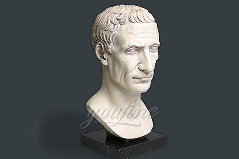 Indoor decoration marble Julius Caesar bust statues