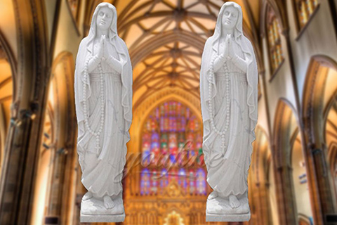 Decorative Life Size Marble Our Lady of Fatima StatuesDecorative Life Size Marble Our Lady of Fatima Statues