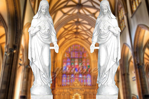 Christian Garden Large Virgin Mary Marble Statues
