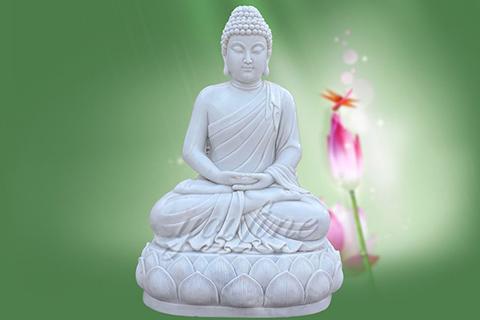Life Size Sitting Shakyamuni Marble Buddha Statues