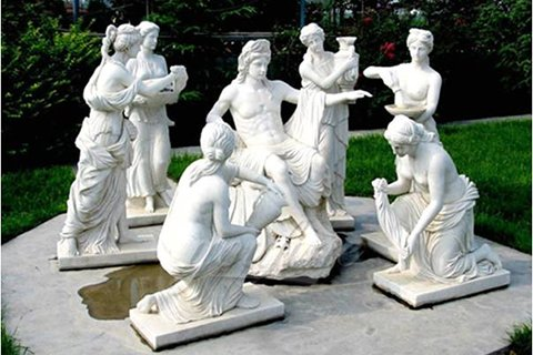 Classical marble Apollo Bathing sculptures for sale